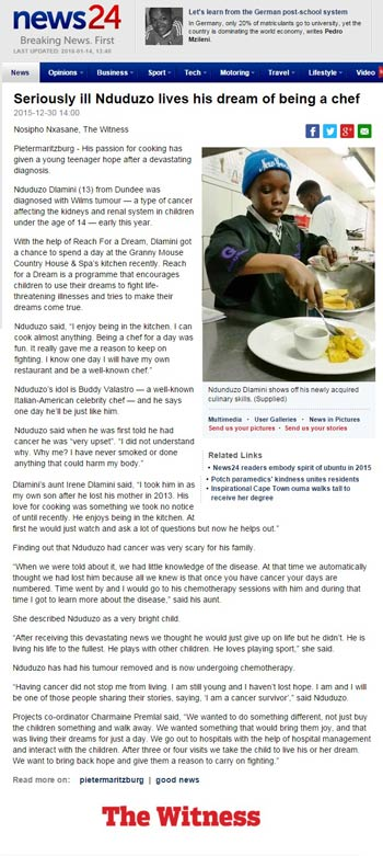 Dec-30--News-24--Seriously-ill-Nduduzo-lives-his-dream-of-being-a-chef