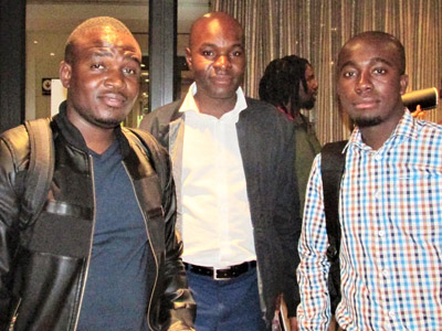 2. Benedict Mdluli, Michael Mathebuia and Tebogo Lebepe